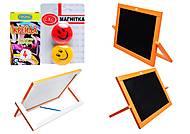 Доска-мольберт двухстороняя настольная «Оранж», М007, toys.com.ua