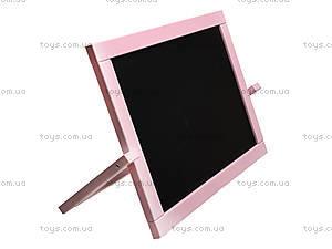 Мольберт двухсторонний настольный, розовый, М011, купить