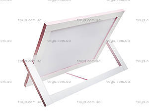 Мольберт двухсторонний настольный, розовый, М011, фото