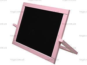 Мольберт двухсторонний настольный, розовый, М011, игрушки