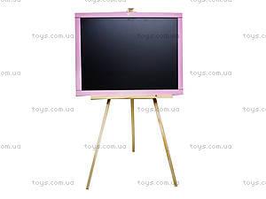 Мольберт детский двухсторонний, розовый, М005, игрушки