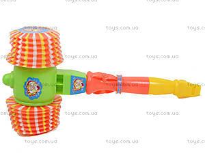Пластмасовый молоток со свистком, 3666A3666, игрушки