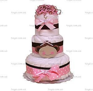Торт из подгузников для девочки Monkey, BH25