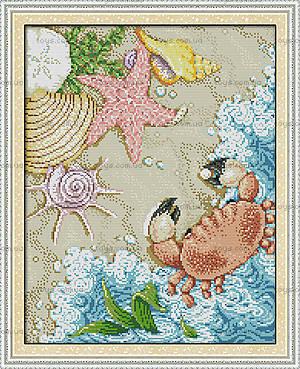 Морское побережье, набор с нитками, K593