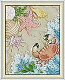 Морское побережье, набор с нитками, K593, фото
