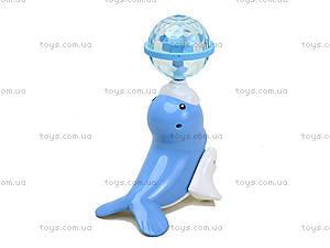 Музыкальный морской Котик нежно-голубого цвета, LD-128A, фото