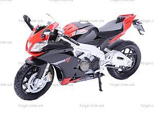 Мотоцикл APRILIA 4 FACTORY, масштаб 1:18, 12833PW, игрушки