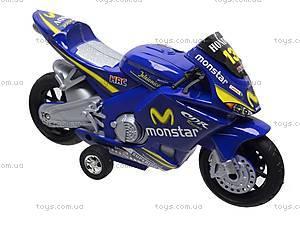 Мотоцикл детский инерционный, 1029-3, купить