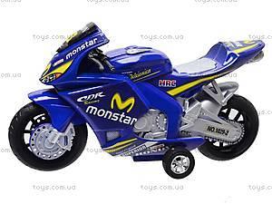 Мотоцикл детский инерционный, 1029-3, детские игрушки