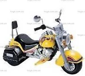 Мотоцикл-электромобиль для детей, желтый, M-006