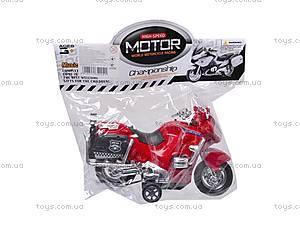 Мотоцикл инерционный с музыкой, CZ003B, игрушки
