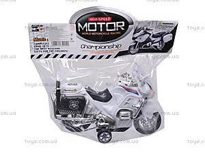 Мотоцикл инерционный с музыкой, CZ003B, детские игрушки