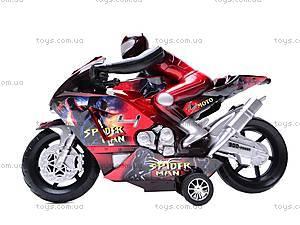 Мотоцикл инерционный Spiderman, HR686-6, фото