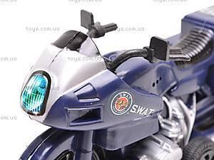 Мотоцикл инерционный SWAT, 999-065E, игрушки
