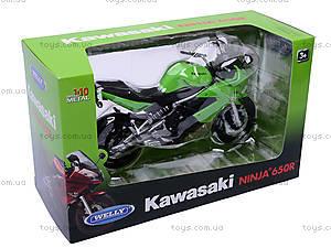 Мотоцикл KAWASAKI 2009  NINJA 650R, масштаб 1:10 , 62803W, купить