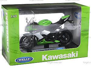 Мотоцикл KAWASAKI 2009  NINJA ZX-10R, масштаб 1:18 , 12809PW, купить