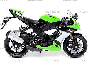 Мотоцикл KAWASAKI 2009  NINJA ZX-10R, масштаб 1:18 , 12809PW, цена