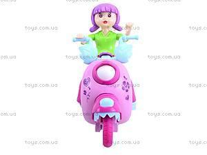 Мотоцикл с девочкой музыкальный, 101A, купить