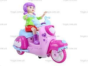 Мотоцикл с девочкой музыкальный, 101A, фото
