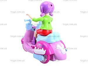 Мотоцикл с девочкой музыкальный, 101A, отзывы