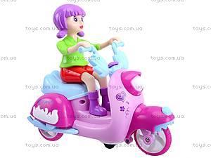 Мотоцикл с девочкой музыкальный, 101A, цена