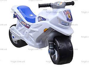 Мотоцикл двухколесный с каской, белый, 501 БЕЛс каской, игрушки