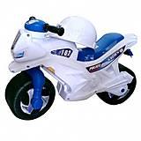 Мотоцикл 2-колесный с сигналом «Полиция» белый, 501в 3 Полиция, игрушки