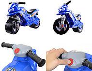 Мотоцикл 2-колесный с сигналом, синий, русская озвучка, 501в 3 Синий, фото