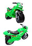 Мотоцикл 2-колесный, зеленый, Орион , 501 Зел, игрушки