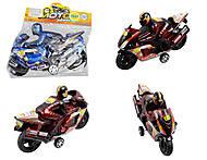 Инерционный игрушечный мотоцикл, в кульке, 6688-1, купить