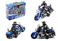 Мотоцикл на батарейках, 2 цвета, 9968-1A