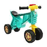 Мотоцикл «Беговел-2» бирюзовый, 188 Бирюза, игрушки
