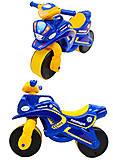 Мотоцикл-каталка для детей «Полиция», синий, 0139570, фото