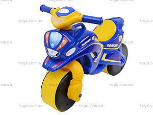 Мотоцикл-каталка для детей «Полиция», синий, 0139570, отзывы