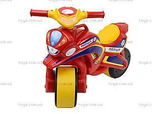 Мотоцикл-каталка «Полицейский байк», красный, 0139560, фото
