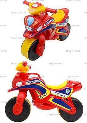 Мотоцикл-каталка «Полицейский байк», красный, 0139560