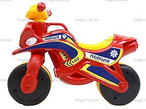 Мотоцикл-каталка «Полицейский байк», красный, 0139560, отзывы