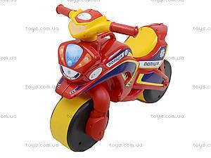 Мотоцикл-каталка «Полицейский байк», красный, 0139560, цена