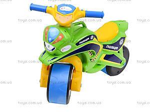 Мотоцикл-каталка «Полиция», зеленый, 0139580, фото