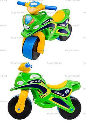 Мотоцикл-каталка «Полиция», зеленый, 0139580