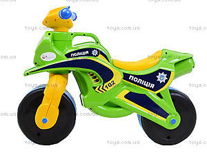 Мотоцикл-каталка «Полиция», зеленый, 0139580, отзывы