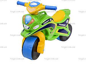 Мотоцикл-каталка «Полиция», зеленый, 0139580, цена