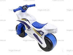 Детский мотоцикл-каталка «Полиция», белый, 0139510, купить