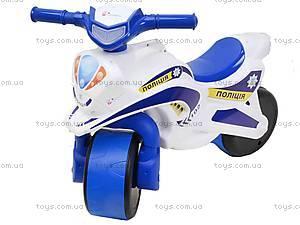 Детский мотоцикл-каталка «Полиция», белый, 0139510, фото