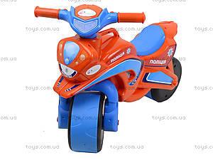 Мотоцикл-каталка детская «Полиция», 0139540, фото