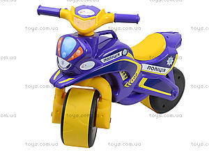 Детский мотоцикл-каталка «Полиция», фиолетовый, 0139550, фото