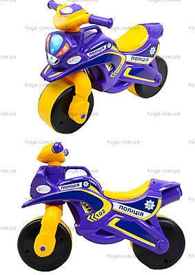 Детский мотоцикл-каталка «Полиция», фиолетовый, 0139550