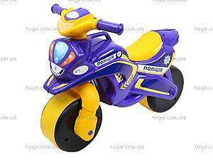 Детский мотоцикл-каталка «Полиция», фиолетовый, 0139550, цена