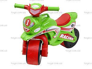Мотоцикл-каталка для детей «Спорт», зеленый, 013950, фото