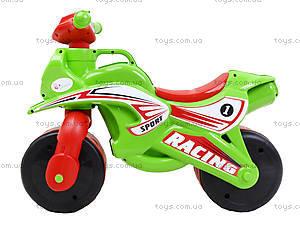 Мотоцикл-каталка для детей «Спорт», зеленый, 013950, цена